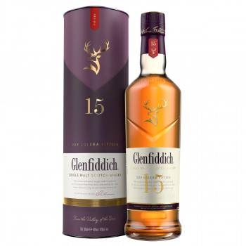 Glenfiddich Single Malt Scotch Whisky 15 Jahre Solera 40% Vol. 700ml