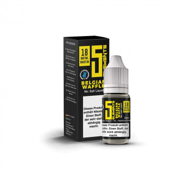 Belgian Waffle 10ml 18mg NicSalt Liquid by 5 Elements