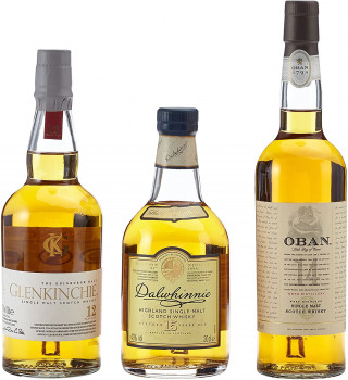 The Classic Malts Collection Pack Gentle, Single Malt Whisky Pack mit Dalwhinnie 15, Oban 14, Glenkinchie 12 3x200ml