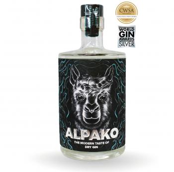 Alpako Dry Gin mit Acai Drachenfrucht Sternfrucht 43.0% 500ml