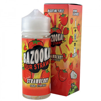 Strawberry 100ml Shortfill Liquid by Bazooka Sour Straws