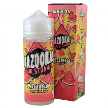 Watermelon 100ml Shortfill Liquid by Bazooka Sour Straws