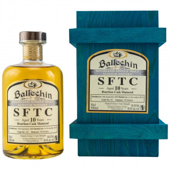 Ballechin SFTC 10 Jahre 2009/2019 Bourbon Cask Single Malt Scotch Whisky 58.4% Vol. 500ml