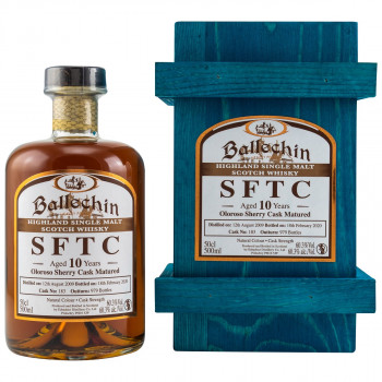 Ballechin SFTC 10 Jahre 2009/2020 Oloroso Sherry Cask Single Malt Scotch Whisky 60.3% Vol. 500ml