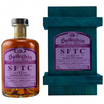 Ballechin SFTC 12 Jahre 2007/2020 Bordeaux Cask Single Malt Scotch Whisky 59.4% Vol. 500ml