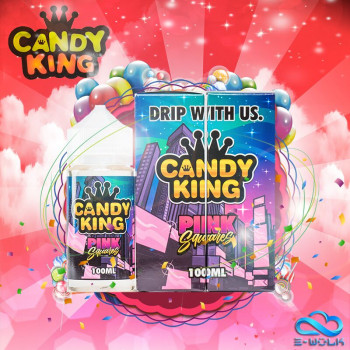 Pink Squares (100ml) Plus e Liquid by Candy King