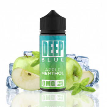 Apple Menthol 100ml Shortfill Liquid by Deep Blue