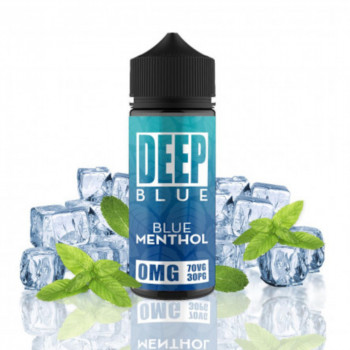 Blue Menthol 100ml Shortfill Liquid by Deep Blue