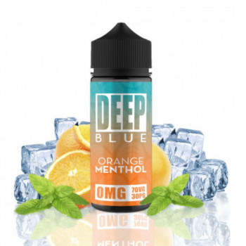 Orange Menthol 100ml Shortfill Liquid by Deep Blue