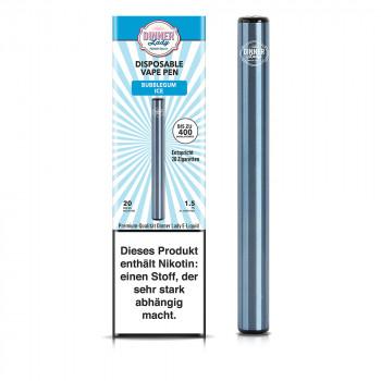 Dinner Lady E-Zigarette 400 Züge 350mAh 20mg NicSalt Disposable Vape Pen Bubblegum ICE