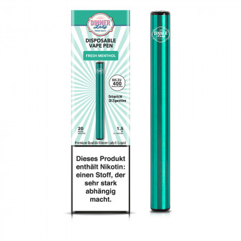 Dinner Lady E-Zigarette 400 Züge 350mAh 20mg NicSalt Disposable Vape Pen Fresh Menthol