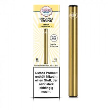 Dinner Lady E-Zigarette 400 Züge 350mAh 20mg NicSalt Disposable Vape Pen Lemon Sherbets
