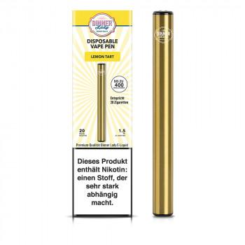 Dinner Lady E-Zigarette 400 Züge 350mAh 20mg NicSalt Disposable Vape Pen Lemon Tart
