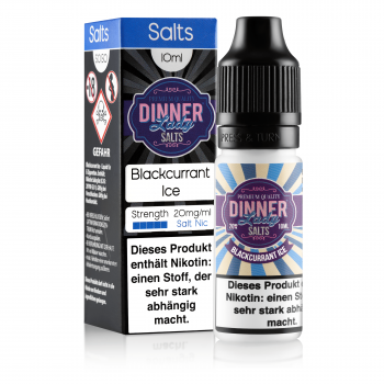 Blackcurrant Ice 10ml 20mg NicSalt by Dinner Lady