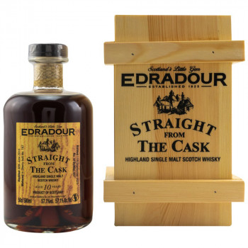 Edradour 2010/2020 - 10 y.o. - Straight from the Cask Sherry Cask Nr. 167 Single Malt Scotch Whisky 57.1% Vol. 500ml