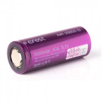 Efest IMR 26650 5000mAh/3,7V/40A/Flat Top/Ungeschützt/ Li-Ionen Akku