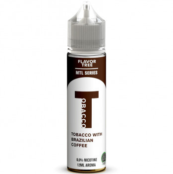 T Tobacco with Brazilian Coffee Aroma MTL Serie 12ml Longfill Aroma by Flavor Tree