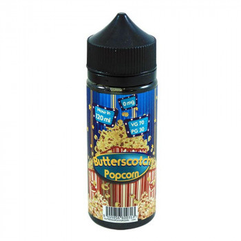 Butterscotch Popcorn 100ml Shortfill Liquid by Fizzy Juice
