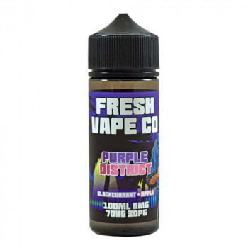 Purple District 100ml Shortfill Liquid by Fresh Vape Co.