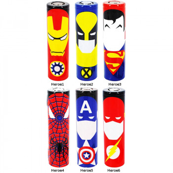 Heroes Serie by Garry Mead 18650er Akku Wraps