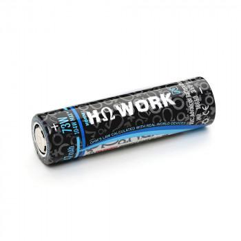 HohmTech Works² 18650 - 2620mAh, 3,6V - 3,7V Flat Top 35,8A ungeschützt