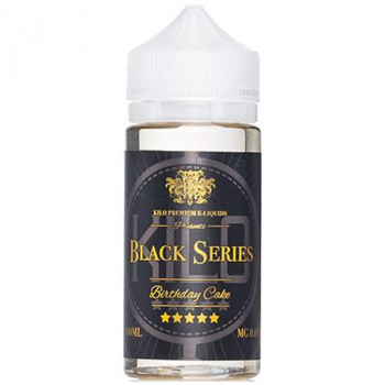 Birthday Cake 100ml Shortfill Liquid by Kilo Black Series