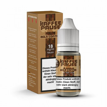 Milk Coffee 10ml 18mg NicSalt by Steamshots Kaffeepause