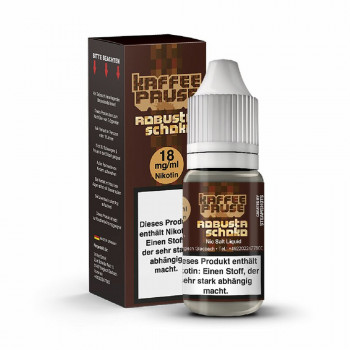 Robusta Schiko 10ml 18mg NicSalt by Steamshots Kaffeepause