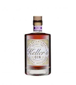 Keller's Plum Distilled Gin vielseitiger Premium Gin aus 66 Botanicals mit fruchtiger Pflaume 35% - 500ml