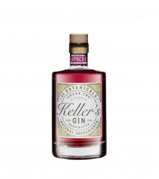 Keller's Raspberry Distilled Gin vielseitiger Premium Gin aus 66 Botanicals mit fruchtiger Himbeere 35% - 500ml
