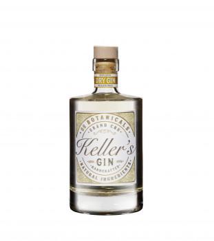 Keller's Dry Distilled Gin vielseitiger Premium Gin aus 66 Botanicals 35% - 500ml