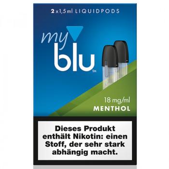 VON ERL. MY./MYBLU Menthol (2er Pack) Liquidpods