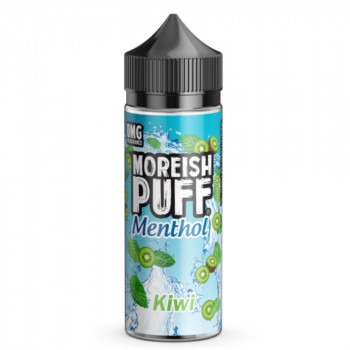 Kiwi Menthol 100ml Shortfill Liquid by Moreish Puff