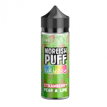Strawberry, Pear & Lime Fruit 100ml Shortfill Liquids by Moreish Puff
