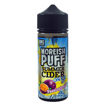 Passion Fruit - Summer Cider on ICE 100ml Shortfill Liquids by Moreish Puff