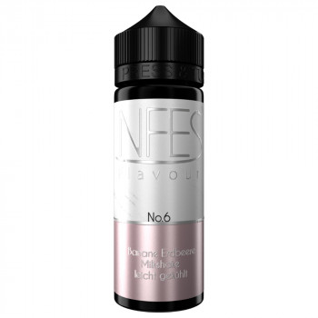 No.6 Banane Erdbeere Milkshake 20ml Longfill Aroma by NFES
