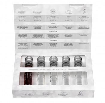 Gin Tasting Set (1 x 0,25 l) | 5 Premium Gins in 50ml Tubes 250ml