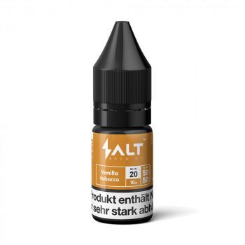 Vanilla Tobacco Nic Salt Liquid by Salt Brew Co.
