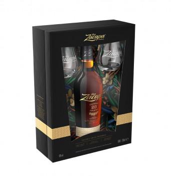 Ron Zacapa Solera Gran Reserva Sistema 23 Jahre Geschenkbox mit 2 Gläser 40 % Vol. 700ml