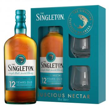 Singleton 12 Jahre, Geschenkpackung mit 2 Gläsern Single Malt Whisky 40% 700ml