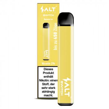 Salt Switch E-Zigarette 450 Züge 350mAh 20mg NicSalt Banana Ice