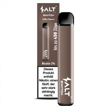 Salt Switch E-Zigarette 450 Züge 350mAh 20mg NicSalt Coffee Tobacco
