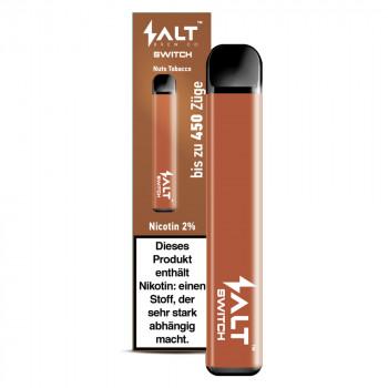 Salt Switch E-Zigarette 450 Züge 350mAh 20mg NicSalt Nuts Tobacco