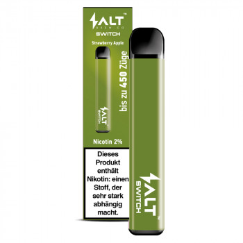 Salt Switch E-Zigarette 450 Züge 350mAh 20mg NicSalt Strawberry Apple