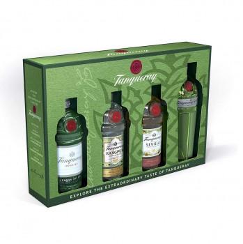Tanqueray Exploration Pack mit Tanqueray London Dry Gin, Tanqueray No. Ten, Tanqueray Flor de Sevilla und Tanqueray Rangpur Gin 200ml
