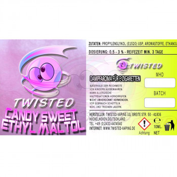 Candy Sweet Ethyl Maltol 10ml Aroma by Twisted Vaping MHD 10/19