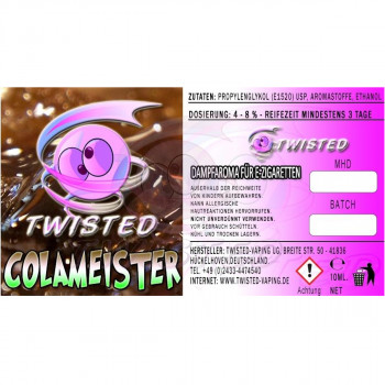 Colameister 10ml Aroma by Twisted Vaping