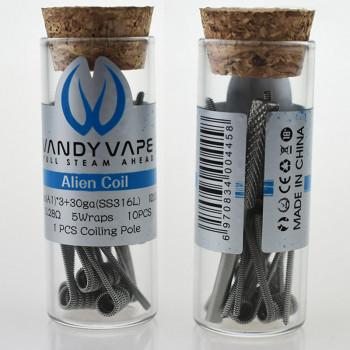 VandyVape Alien Coil (10pcs) Flasche