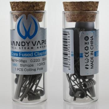 VandyVape Quad Core Fused Clapton Coil (10pcs) Flasche