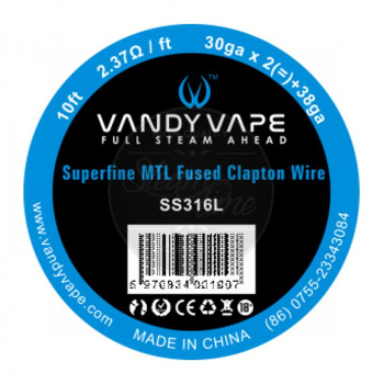 VandyVape Superfine MTL SS316L Fused Clapton Wire (2,63€/1m)